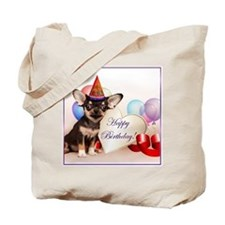 Birthday Chihuahua dog Tote Bag