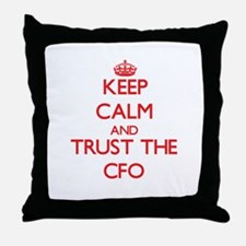 Keep Calm and Trust the Cfo Throw Pillow