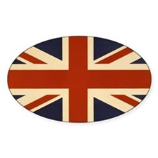 Vintage Union Jack Flag Decal