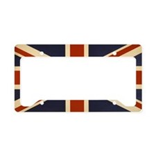 Vintage Union Jack Flag License Plate Holder
