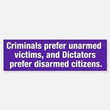 Criminals & Dictators Bumper Bumper Bumper Sticker