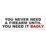 Need a Firearm Bumper Sticker
