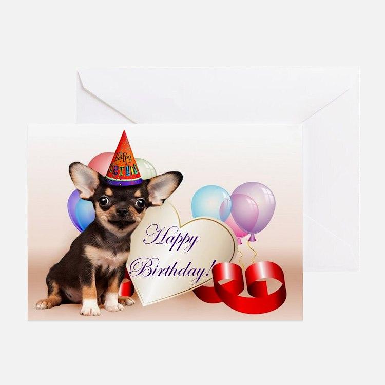 Happy Birthday Chihuahua Dog Greeting Cards