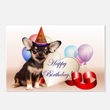 Happy Birthday Chihuahua dog Postcards (Package of