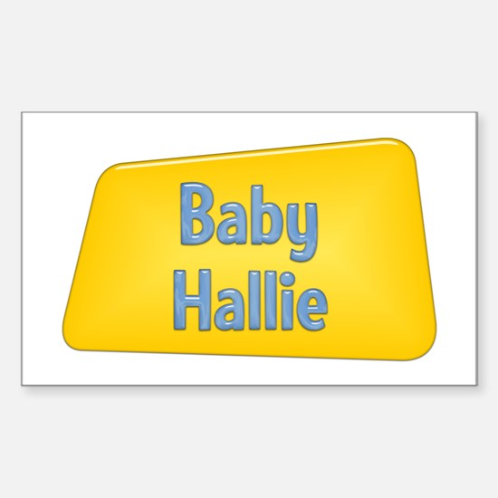 Baby Hallie Rectangle Decal