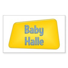 Baby Halle Rectangle Decal