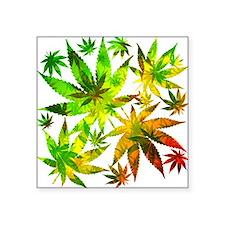Marijuana Cannabis Leaves Pattern Sticker
