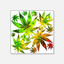Marijuana Cannabis Leaves Pattern Sticker