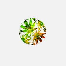 Marijuana Cannabis Leaves Pattern Mini Button