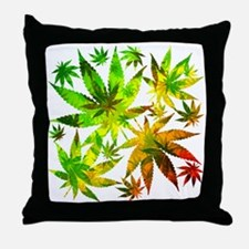 Marijuana Cannabis Leaves Pattern Throw Pillow