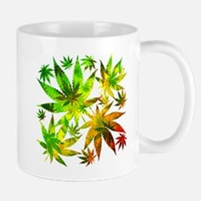 Marijuana Cannabis Leaves Pattern Mugs