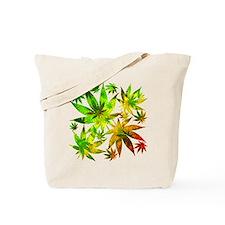 Marijuana Cannabis Leaves Pattern Tote Bag