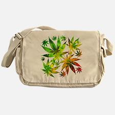 Marijuana Cannabis Leaves Pattern Messenger Bag