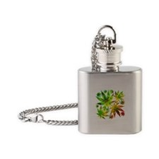 Marijuana Cannabis Leaves Pattern Flask Necklace