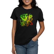 Marijuana Cannabis Leaves Pattern T-Shirt
