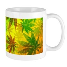Marijuana Cannabis Leaves Pattern Mugs
