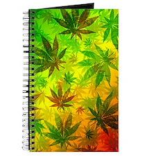 Marijuana Cannabis Leaves Pattern Journal