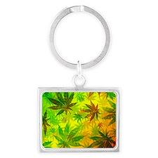Marijuana Cannabis Leaves Pattern Keychains