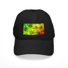 Marijuana Cannabis Leaves Pattern Baseball Hat