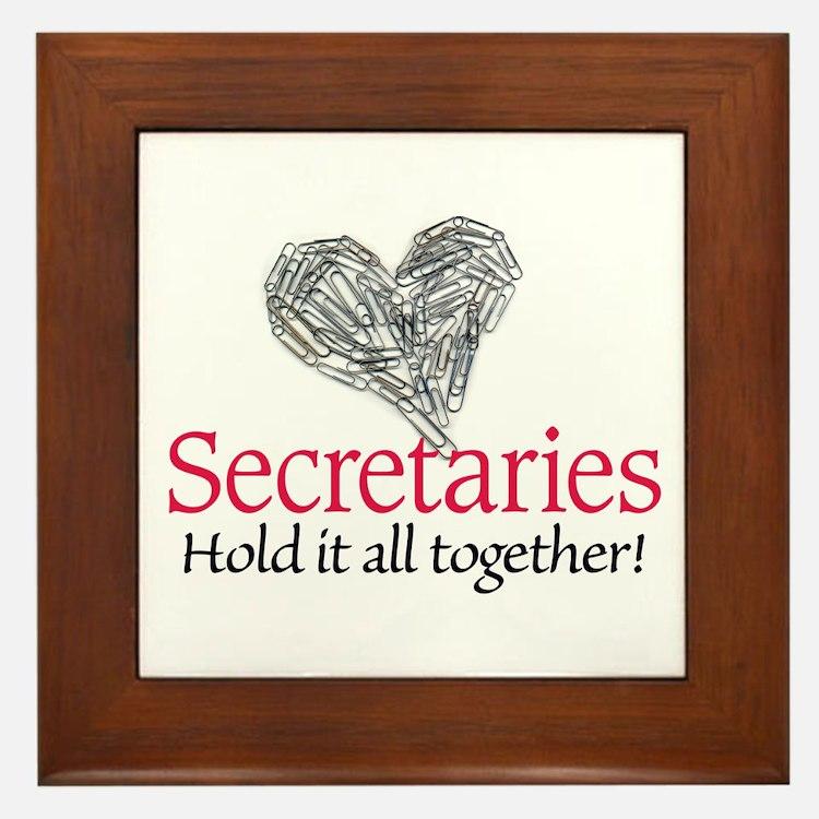 Secretaries Framed Tile