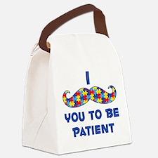 Mustache Autism Canvas Lunch Bag