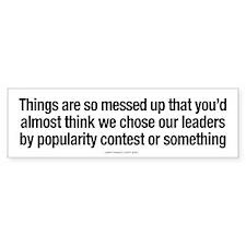 Choosing Leaders Bumper Bumper Sticker