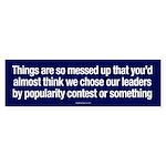 Choosing Leaders Bumper Sticker
