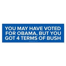 4 Terms Of Bush Bumper Bumper Sticker
