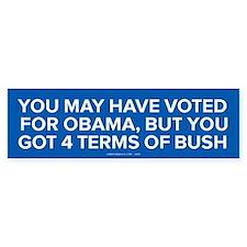 4 Terms Of Bush Bumper Car Sticker