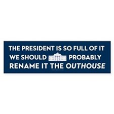 Rename the White House Bumper Bumper Sticker