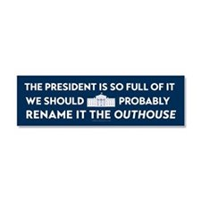Rename the White House Car Magnet 10 x 3