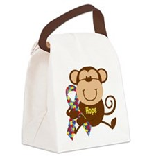 Monkey Autism Hope Canvas Lunch Bag