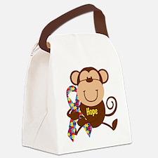 Monkey Autism Hope Canvas Lunch Bag