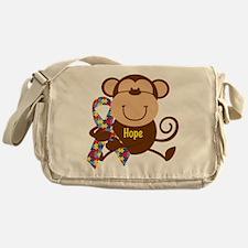 Monkey Autism Hope Messenger Bag