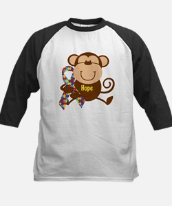 Monkey Autism Hope Kids Baseball Jersey