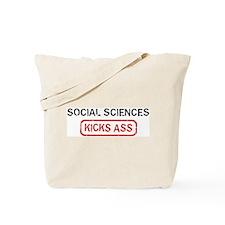 SOCIAL SCIENCES kicks ass Tote Bag