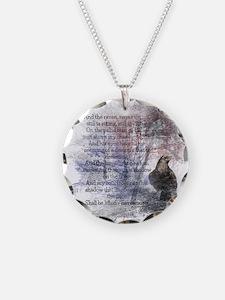 The Raven Edgar Allen Poe Poem Necklace Circle Cha