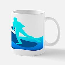 Jet Skier Blue Mugs