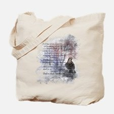 The Raven Edgar Allen Poe Poem Tote Bag