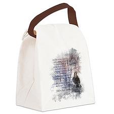 The Raven Edgar Allen Poe Poem Canvas Lunch Bag