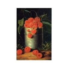 A Pail of Raspberries, George For Rectangle Magnet