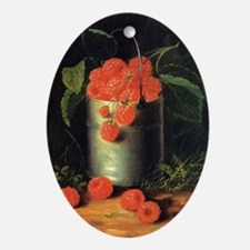A Pail of Raspberries, George Forste Oval Ornament