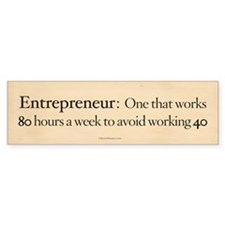 Entrepreneur Definition Bumper Bumper Sticker