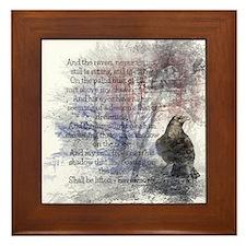 The Raven Edgar Allen Poe Poem Framed Tile