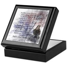 The Raven Edgar Allen Poe Poem Keepsake Box