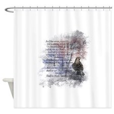 The Raven Edgar Allen Poe Poem Shower Curtain