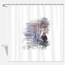 The Raven Edgar Allen Poe Poem Shower Curtain