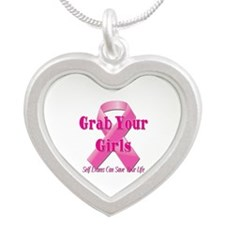 Grab Your Girls Silver Heart Necklace