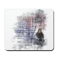 The Raven Edgar Allen Poe Poem Mousepad