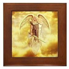 angel michael Framed Tile
